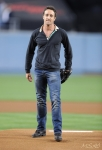 Alex O'Loughlin at Los Angeles Dodgers Game